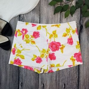 Ann Taylor Bright Floral Pull On Shorts